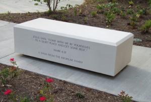 Memorial Bench in GFRC